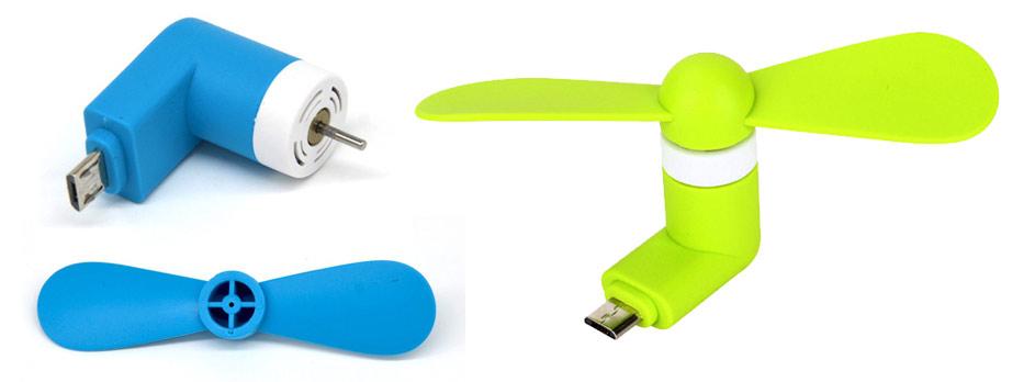 USB větráček k mobilu